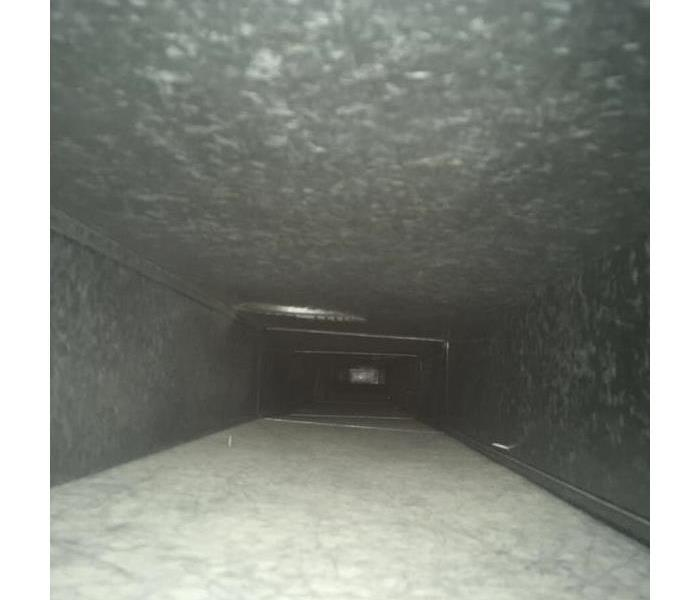 A cleaned out air duct